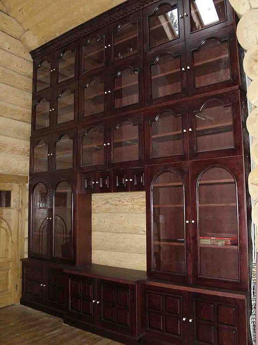 Мебель ручной работы. Ярмарка Мастеров - ручная работа. Купить библиотека,сосна тонированная. Handmade. Коричневый, кабинет, деревянный дом