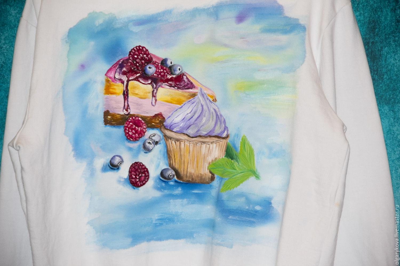 Sweatshirt painted 'Dessert', Jumpers, St. Petersburg,  Фото №1