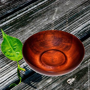 Посуда ручной работы. Ярмарка Мастеров - ручная работа Пиала Чаша из Сибирского Кедра 16,5 см, Тарелка деревянная #T16. Handmade.