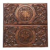 Сувениры и подарки handmade. Livemaster - original item Backgammon carved handmade coats of Arms 3 Art. .005. Handmade.