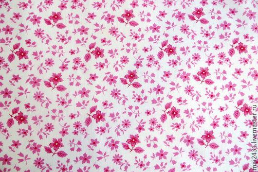 Ткань хлопок в мелкий рисунок цветочки