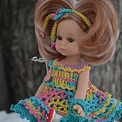 Куклы и игрушки handmade. Livemaster - original item Dress, shorts, handbag and hair cord for Paola Reina doll 21 cm. Handmade.