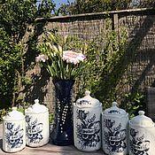 Винтаж handmade. Livemaster - original item Banks for loose products porcelain, Delft, the Netherlands. Handmade.