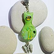 Украшения handmade. Livemaster - original item Cat pendant