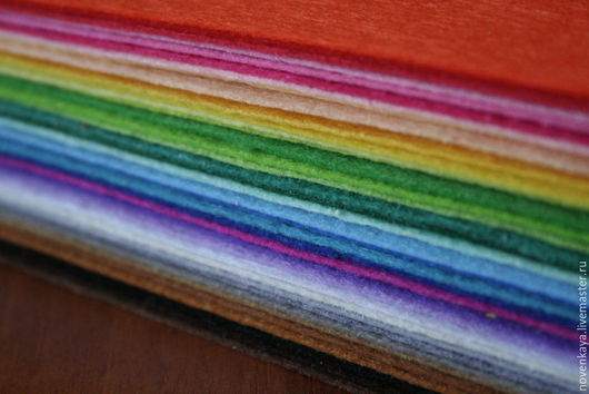 Валяние ручной работы. Ярмарка Мастеров - ручная работа. Купить Набор фетра 43 цвета 15х15см. Handmade. Фетр
