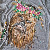 Одежда ручной работы. Ярмарка Мастеров - ручная работа Вуки футболка. Handmade.