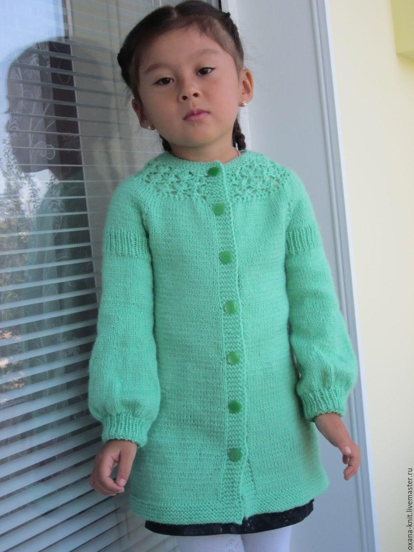 Кардиган для девочки 4 года вязание на спицах 493