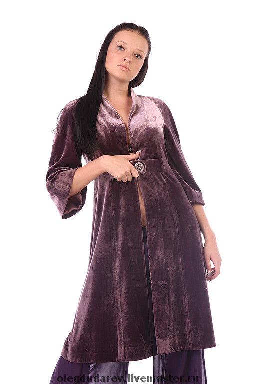 Верхняя одежда ручной работы. Ярмарка Мастеров - ручная работа. Купить вечернее пальто. Handmade. Легкое пальто, Шелковое пальто