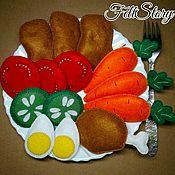 Кукольная еда ручной работы. Ярмарка Мастеров - ручная работа Набор еды из фетра. Handmade.