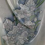 """Аксессуары ручной работы. Ярмарка Мастеров - ручная работа Шелковый шарф """"Ветка орхидеи"""". Handmade."""