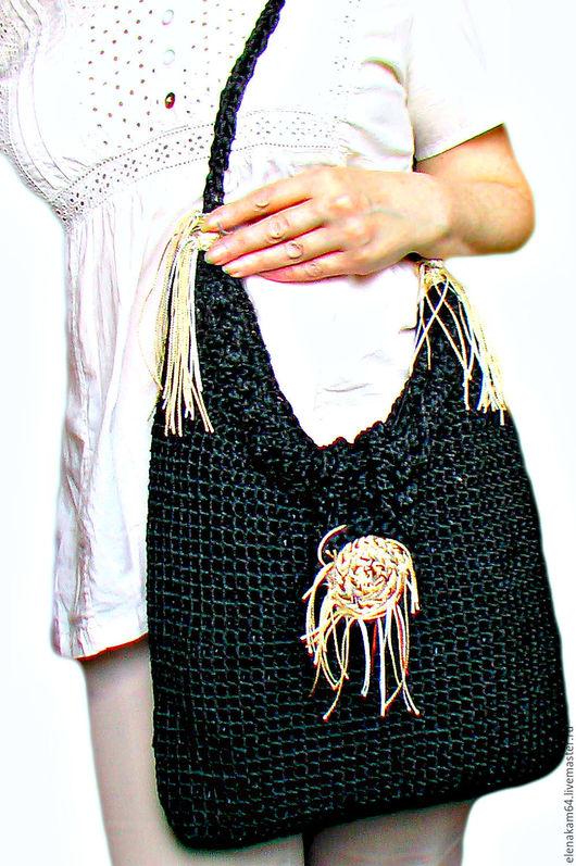 Женские сумки ручной работы. Ярмарка Мастеров - ручная работа. Купить сумка вязаная. Handmade. Сумка, объемная сумка, Сумки