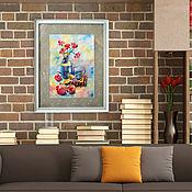 """Картины и панно ручной работы. Ярмарка Мастеров - ручная работа Картина акварелью """"Натюрморт с гранатом"""". Handmade."""