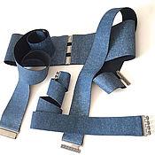 Аксессуары handmade. Livemaster - original item the belt-gum, jeans, the belt height 20mm - 1200 rubles, different prices. Handmade.