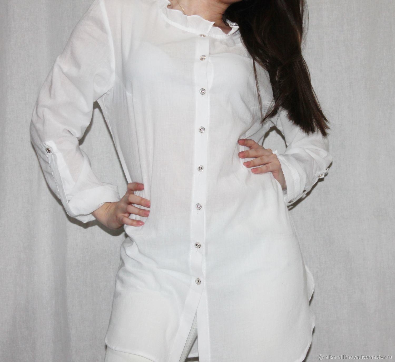 2550e34d298 Blouses handmade. Livemaster - handmade. Buy Lightweight blouse tunic.White