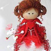 Куклы и игрушки ручной работы. Ярмарка Мастеров - ручная работа Овен. Кукла текстильная. Знаки зодиака. Ариес. Handmade.