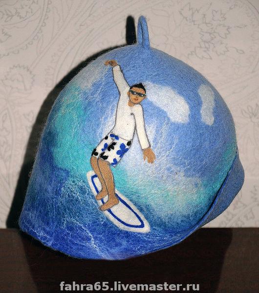 """Банные принадлежности ручной работы. Ярмарка Мастеров - ручная работа. Купить """"Серфингист"""". Handmade. Голубой, банные принадлежности"""