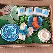 """Косметика ручной работы. Ярмарка Мастеров - ручная работа """"Подарочный набор на рождение ребенка или крестины"""" мыло ручной работы. Handmade."""