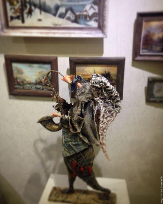 Коллекционные куклы ручной работы. Ярмарка Мастеров - ручная работа. Купить Бегущий ангел ,музыкант. Handmade. Комбинированный, Паперклей