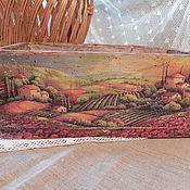 """Для дома и интерьера ручной работы. Ярмарка Мастеров - ручная работа Короб для хранения """"Итальянский пейзаж"""". Handmade."""