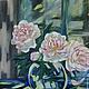 Картины цветов ручной работы. Ярмарка Мастеров - ручная работа. Купить Пионовый свет. Handmade. Бледно-розовый, картина с цветами