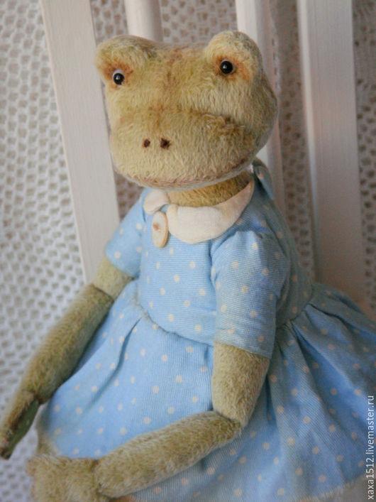 Мишки Тедди ручной работы. Ярмарка Мастеров - ручная работа. Купить Дульсинея - Лягушка Тедди (купить лягушку, болотный). Handmade.
