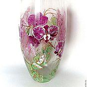 Для дома и интерьера ручной работы. Ярмарка Мастеров - ручная работа Ваза Орхидеи и Сирень. Handmade.