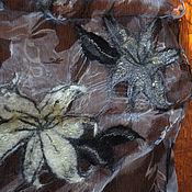 Аксессуары ручной работы. Ярмарка Мастеров - ручная работа Шарфик Серо-белые лилии. Handmade.