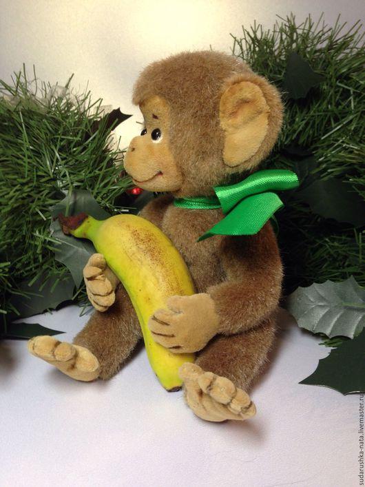 Мишки Тедди ручной работы. Ярмарка Мастеров - ручная работа. Купить обезьянка Джонни. Handmade. Бежевый, символ 2016 года