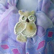 Украшения handmade. Livemaster - original item A beaded brooch +fur