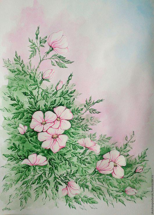 """Картины цветов ручной работы. Ярмарка Мастеров - ручная работа. Купить картина """"Шиповник"""". Handmade. Картина в подарок, роза"""