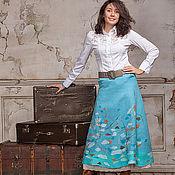 Юбки ручной работы. Ярмарка Мастеров - ручная работа Авторская юбка макси, длинная юбка, теплая юбка в пол, Первый Ветер. Handmade.
