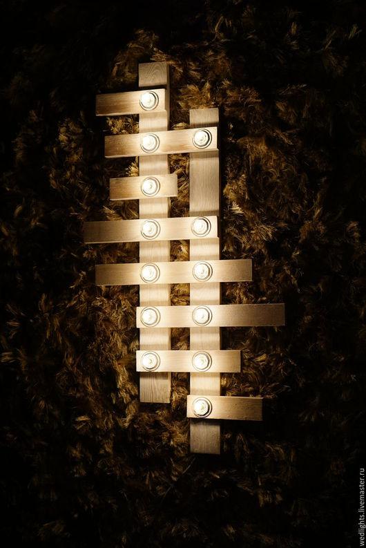 """Освещение ручной работы. Ярмарка Мастеров - ручная работа. Купить Бра  """"Brush cross"""". Handmade. Белый, браширование, бра"""