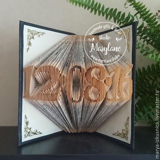 Интерьерные слова ручной работы. Ярмарка Мастеров - ручная работа. Купить Подарок на свадьбу , дата свадьбы - скульптура из книги. Handmade.