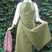 Материалы для творчества handmade. Livemaster - original item Apron natural cotton Japanese style. Handmade.