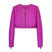 Одежда handmade. Livemaster - original item Women`s jacket of Python RIMINE. Handmade.