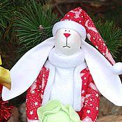 Куклы и игрушки ручной работы. Ярмарка Мастеров - ручная работа Санта -Заяц. Handmade.
