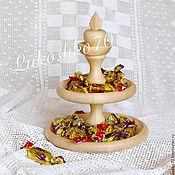 Посуда handmade. Livemaster - original item The candy bowl-bowl tiered wooden. Tableware made of cedar. Handmade.