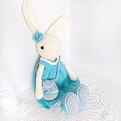 Куклы и игрушки handmade. Livemaster - original item Tilda the hare in a dress. Handmade.