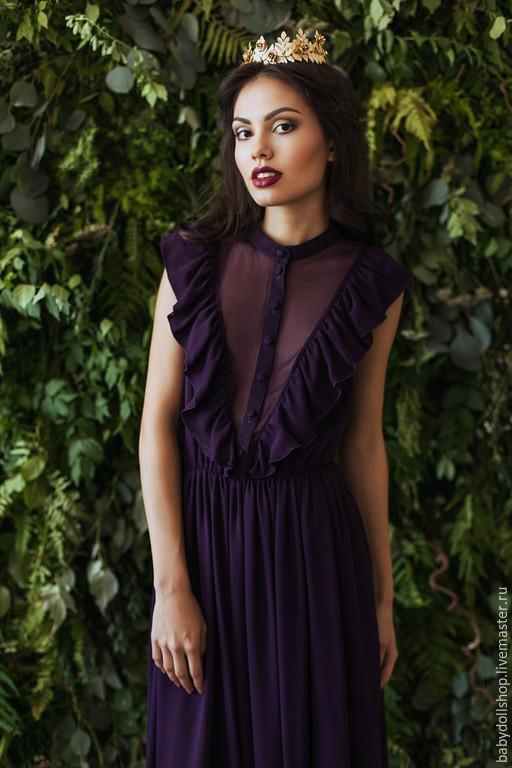 платье, платье в пол, длинное платье, вечернее платье, фиолетовое платье