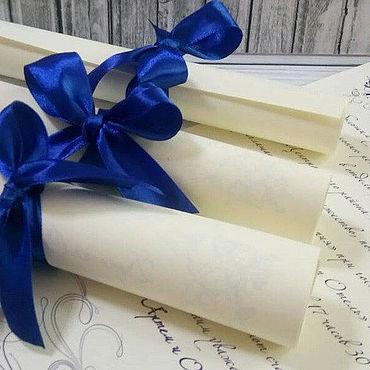 Свадебный салон ручной работы. Ярмарка Мастеров - ручная работа Приглашения: свиток. Handmade.