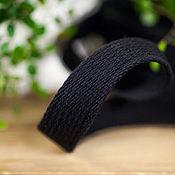Материалы для творчества ручной работы. Ярмарка Мастеров - ручная работа Хлопковая стропа  25, 30 мм, черная. Handmade.