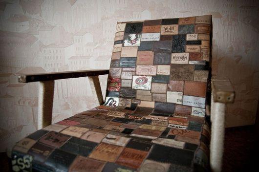 Мебель ручной работы. Ярмарка Мастеров - ручная работа. Купить кресло. Handmade. Этикетка, кресло, джинса