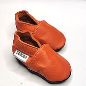 Одежда детская handmade. Livemaster - original item Orange baby shoes,Baby moccasins,Infant shoes,Ebooba. Handmade.