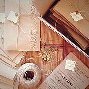 Свадебный салон ручной работы. Ярмарка Мастеров - ручная работа Приглашения на свадьбу в стиле рустик. Handmade.