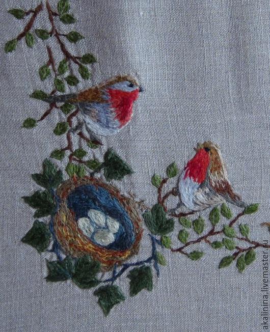 Текстиль, ковры ручной работы. Ярмарка Мастеров - ручная работа. Купить Скатерть с птицами. Handmade. Разноцветный, птицы, яркий