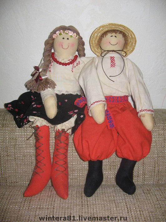 Народные куклы ручной работы. Ярмарка Мастеров - ручная работа. Купить украинские парень и девушка. Handmade. Хохлы, хлопок