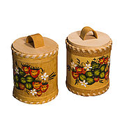 Для дома и интерьера handmade. Livemaster - original item Birch bark basket. salt shaker. Sugar bowl. Jar for tea. Handmade.