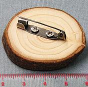 """Фен-шуй и эзотерика ручной работы. Ярмарка Мастеров - ручная работа Брошь деревянная еловая """"Третий Глаз"""" unisex ручной работы. Handmade."""