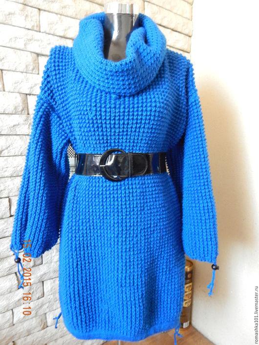 Кофты и свитера ручной работы. Ярмарка Мастеров - ручная работа. Купить Кардиган. Handmade. Синий, пряжа, теплый