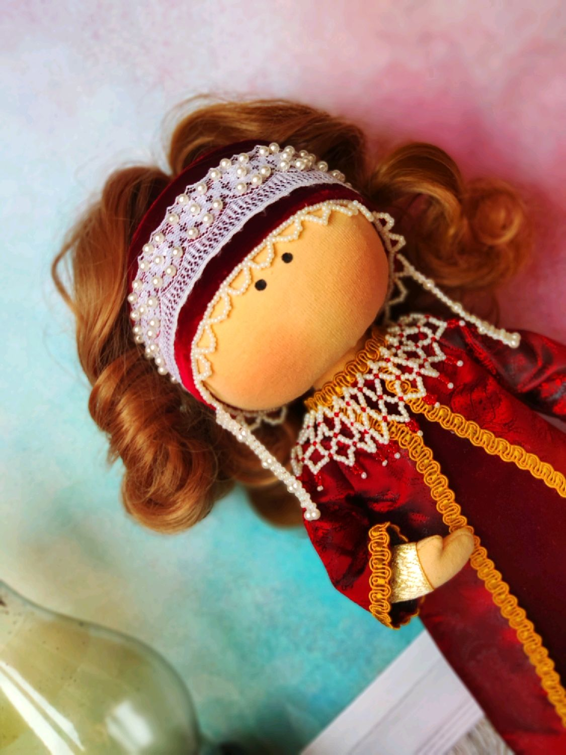 Gift to a girl doll in Russian-folk costume for home or play, Toys, Moscow,  Фото №1